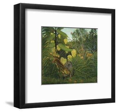 The Fight Between a Tiger and Buffalo, c.1908-Henri Rousseau-Framed Art Print