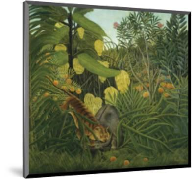 The Fight Between a Tiger and Buffalo, c.1908-Henri Rousseau-Mounted Art Print