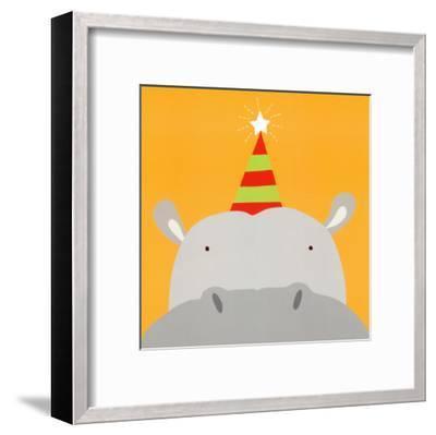 Peek-a-Boo VIII, Hippo-Yuko Lau-Framed Art Print
