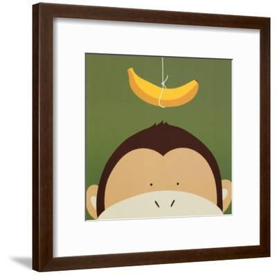 Peek-a-Boo X, Monkey-Yuko Lau-Framed Art Print