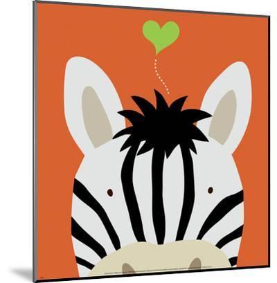 Peek-a-Boo XII, Zebra-Yuko Lau-Mounted Art Print