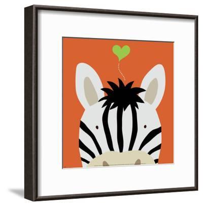 Peek-a-Boo XII, Zebra-Yuko Lau-Framed Art Print