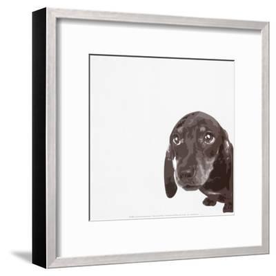 Dachshund-Emily Burrowes-Framed Art Print