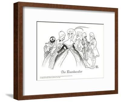 Der Rosenkavalier, with Pavarotti-Al Hirschfeld-Framed Art Print