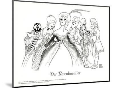 Der Rosenkavalier, with Pavarotti-Al Hirschfeld-Mounted Art Print