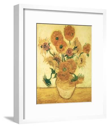 Vase of Fifteen Sunflowers, c.1888-Vincent van Gogh-Framed Art Print