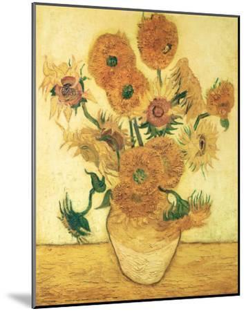 Vase of Fifteen Sunflowers, c.1888-Vincent van Gogh-Mounted Art Print