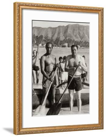 Duke and The Babe, 1934--Framed Art Print