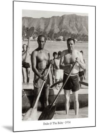 Duke and The Babe, 1934--Mounted Art Print