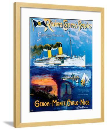 Riviera Express Service--Framed Giclee Print