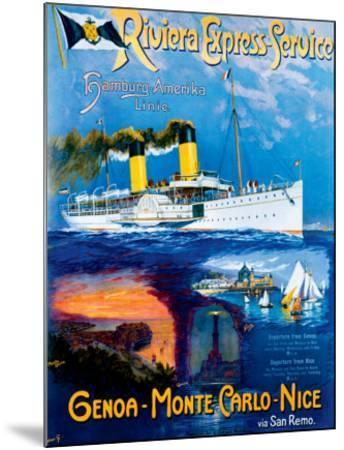 Riviera Express Service--Mounted Giclee Print