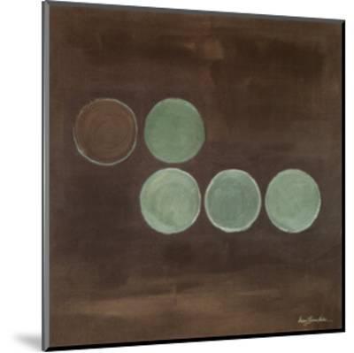 Aqua Lily Pads II-Karen Lorena Parker-Mounted Art Print