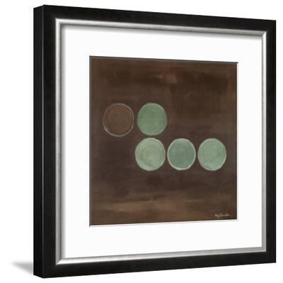 Aqua Lily Pads II-Karen Lorena Parker-Framed Art Print