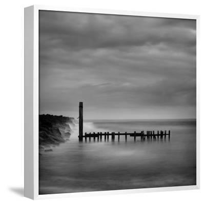 Jetty in Black and White-Shane Settle-Framed Premium Giclee Print