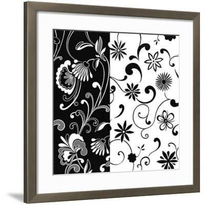 Formas Florales I--Framed Art Print