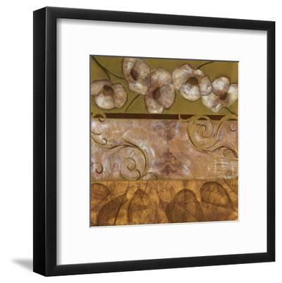 Golden Poppy Swirl-Courtland-Framed Art Print