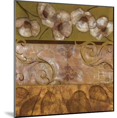 Golden Poppy Swirl-Courtland-Mounted Art Print