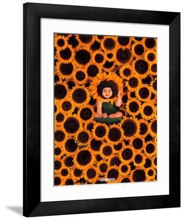 Sunflower Wall-Anne Geddes-Framed Art Print