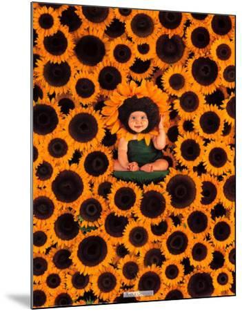 Sunflower Wall-Anne Geddes-Mounted Art Print