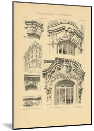 Motifs D'architecture Moderne I-Schmidt Schmidt-Mounted Premium Giclee Print