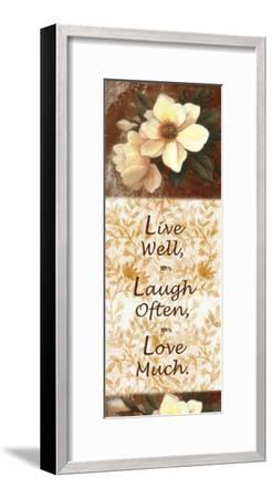 Live, Laugh, Love-T^ C^ Chiu-Framed Art Print