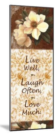Live, Laugh, Love-T^ C^ Chiu-Mounted Art Print