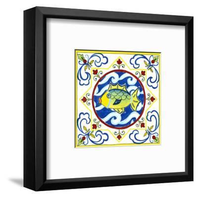 Rustic Tile IV-Chariklia Zarris-Framed Art Print