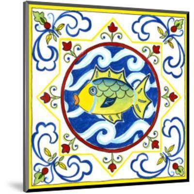Rustic Tile IV-Chariklia Zarris-Mounted Art Print