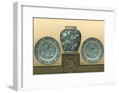 Porcelain in Teal I-George Ashdown Audsley-Framed Art Print