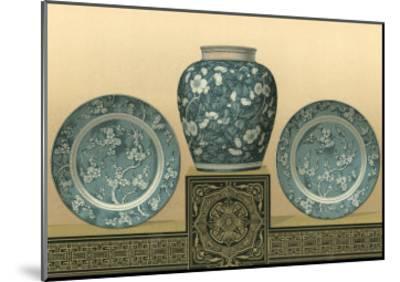 Porcelain in Teal I-George Ashdown Audsley-Mounted Art Print