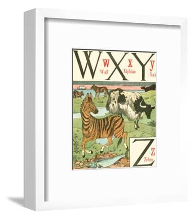 Noah's Alphabet VII-Walter Crane-Framed Art Print