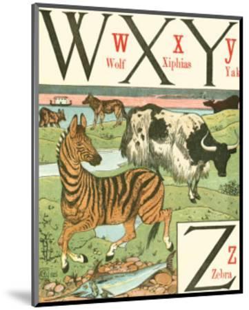 Noah's Alphabet VII-Walter Crane-Mounted Art Print