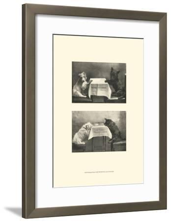 Waiting for Dinner--Framed Art Print