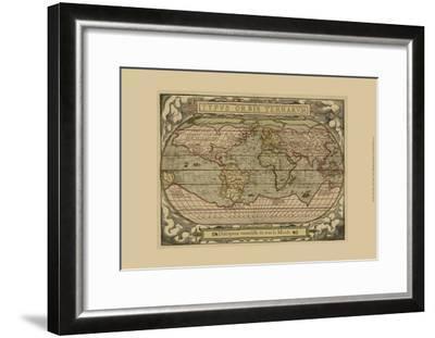 Typvs Map--Framed Art Print