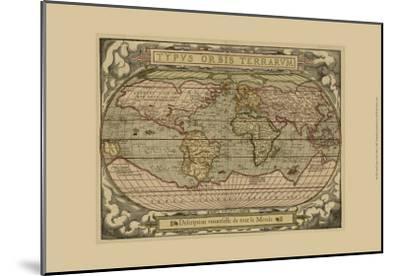 Typvs Map--Mounted Art Print