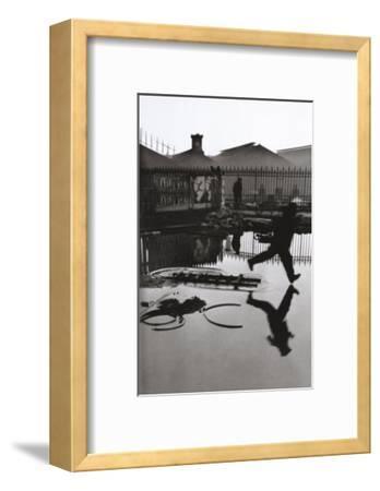 Derriere la Gare Saint-Lazare, Paris-Henri Cartier-Bresson-Framed Art Print