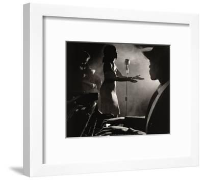 Blue Song-Nick White-Framed Art Print
