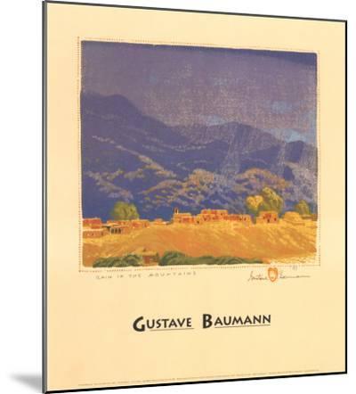 Rain in the Mountains-Gustave Baumann-Mounted Art Print