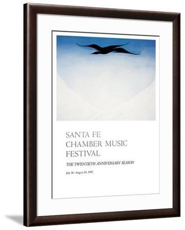 Black Bird-Georgia O'Keeffe-Framed Art Print