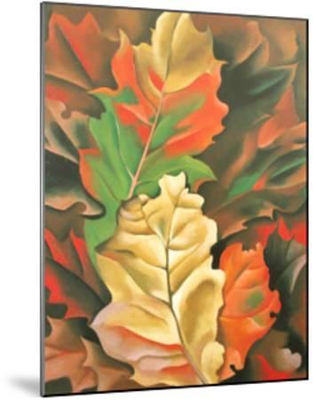 Autumn Leaves-Georgia O'Keeffe-Mounted Art Print