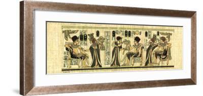 Egyptian Papyrus, Design I--Framed Art Print