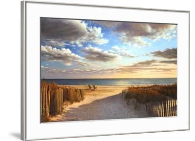 Sunset Beach-Daniel Pollera-Framed Art Print