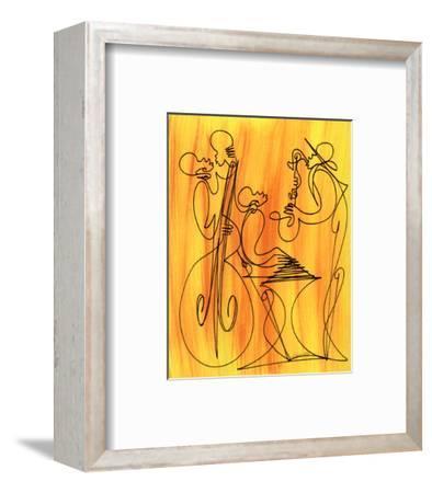 Musical Love-Sir Shadow-Framed Art Print