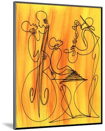 Musical Love-Sir Shadow-Mounted Art Print