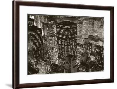 Mary Poppins over Midtown, New York, 2006-Michael Kenna-Framed Art Print