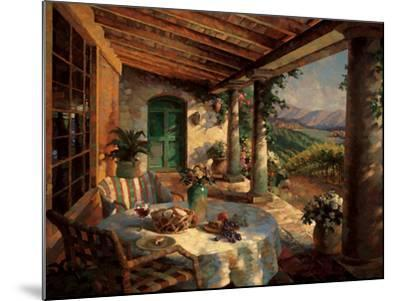 View from the Veranda-Leon Roulette-Mounted Art Print