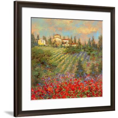 Provencal Village XII-Michael Longo-Framed Art Print