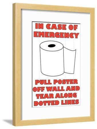In Case of Emergency II-Russ Lachanse-Framed Art Print