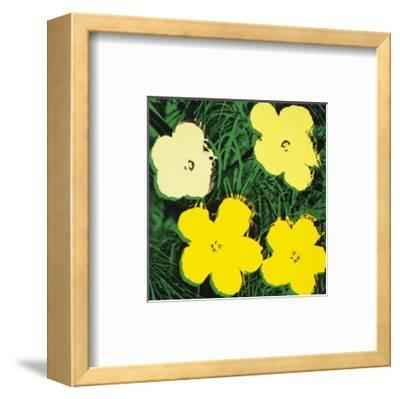 Flowers, c.1970 (Yellow)-Andy Warhol-Framed Art Print
