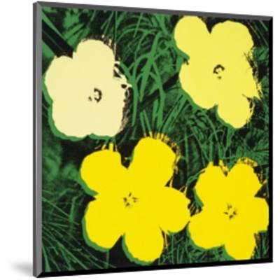 Flowers, c.1970 (Yellow)-Andy Warhol-Mounted Art Print